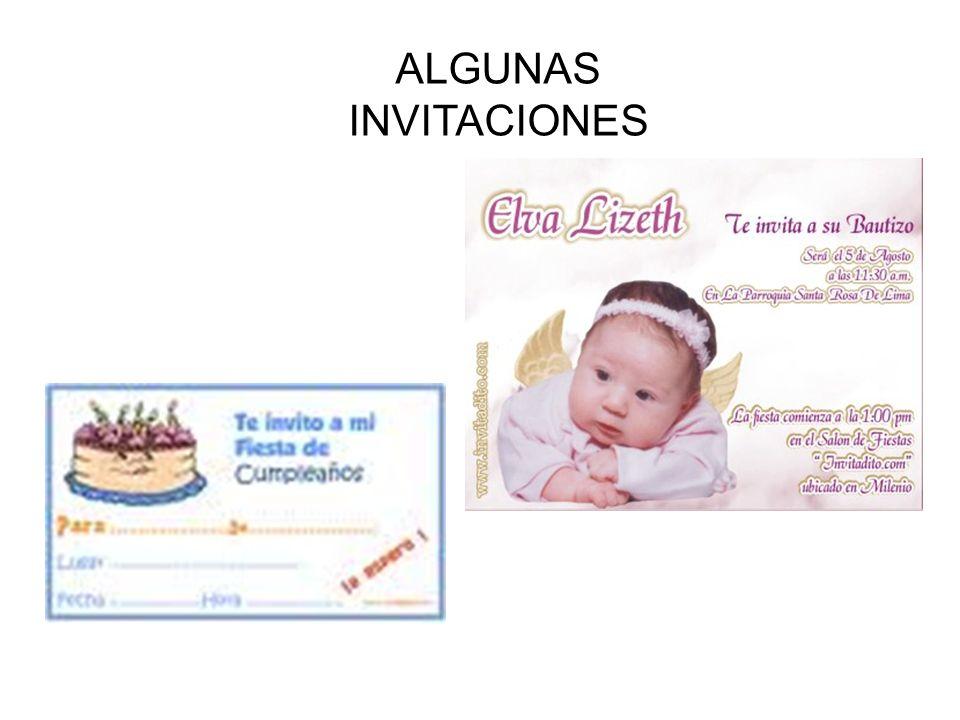 ALGUNAS INVITACIONES
