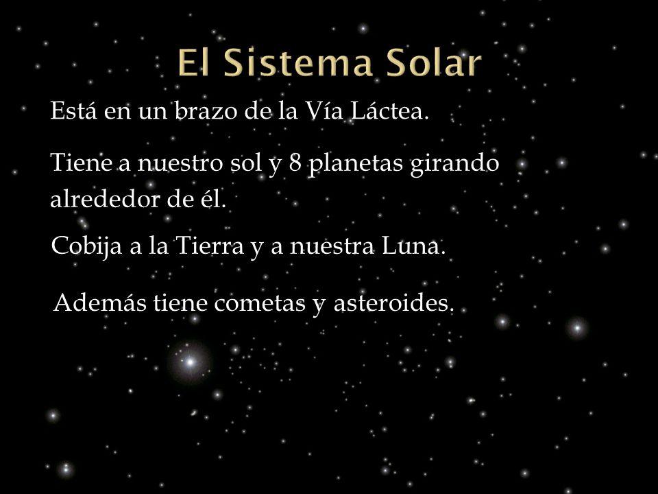 El Sistema Solar Está en un brazo de la Vía Láctea.