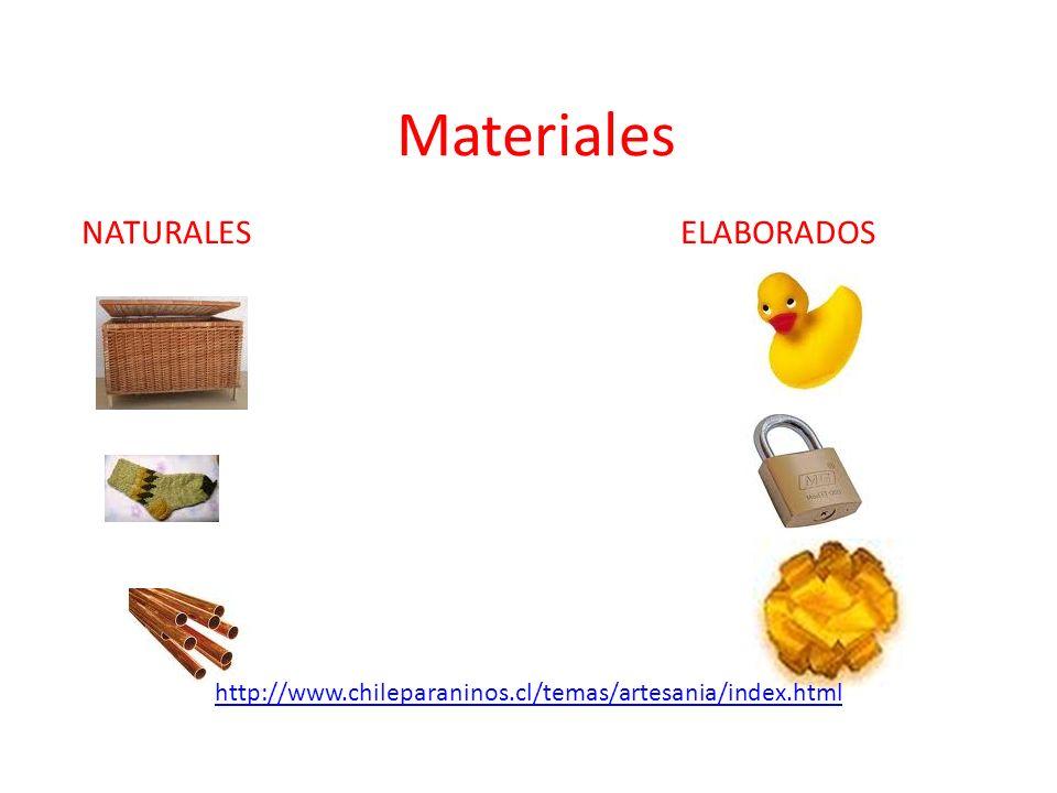 Materiales NATURALES ELABORADOS