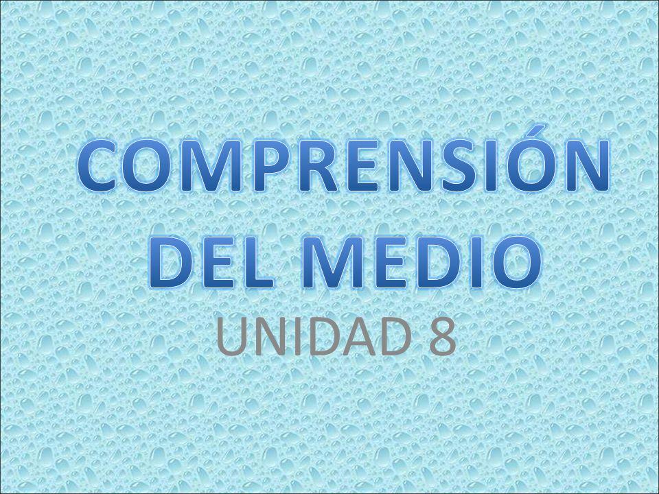 COMPRENSIÓN DEL MEDIO UNIDAD 8