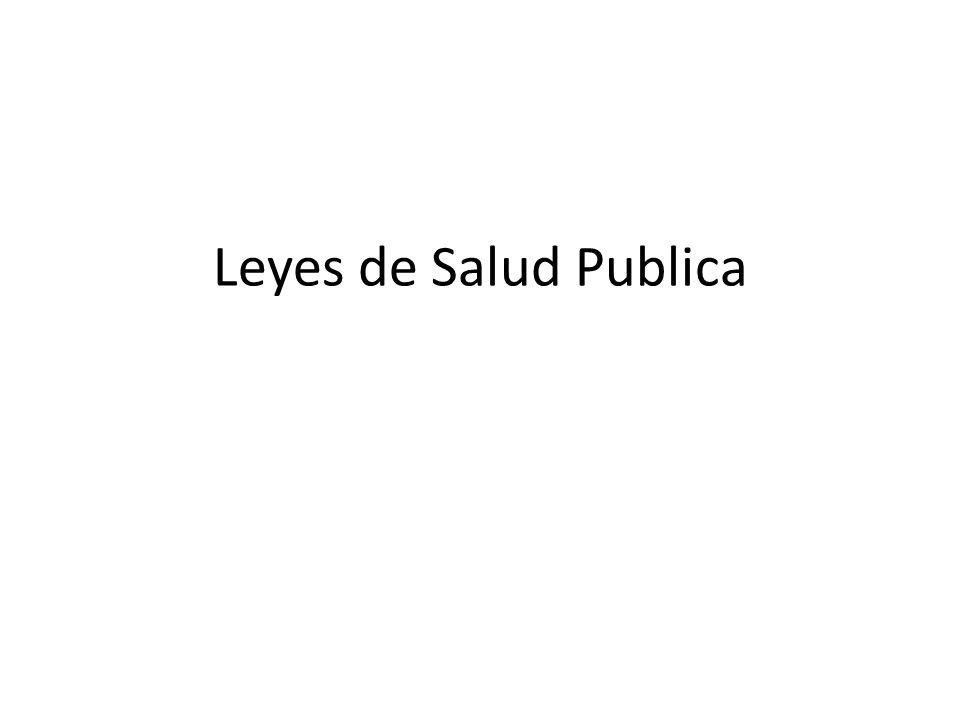Leyes de Salud Publica