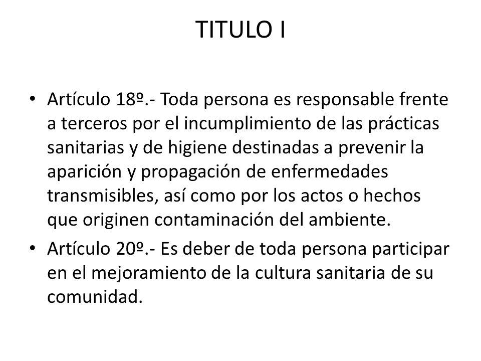 TITULO I