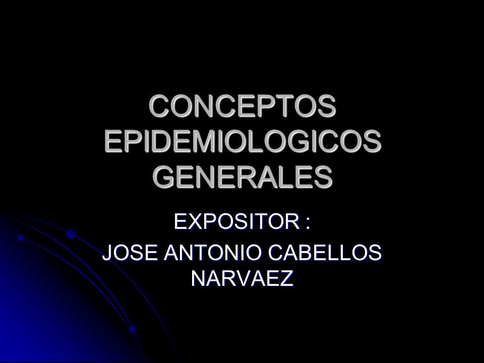 CONCEPTOS EPIDEMIOLOGICOS GENERALES