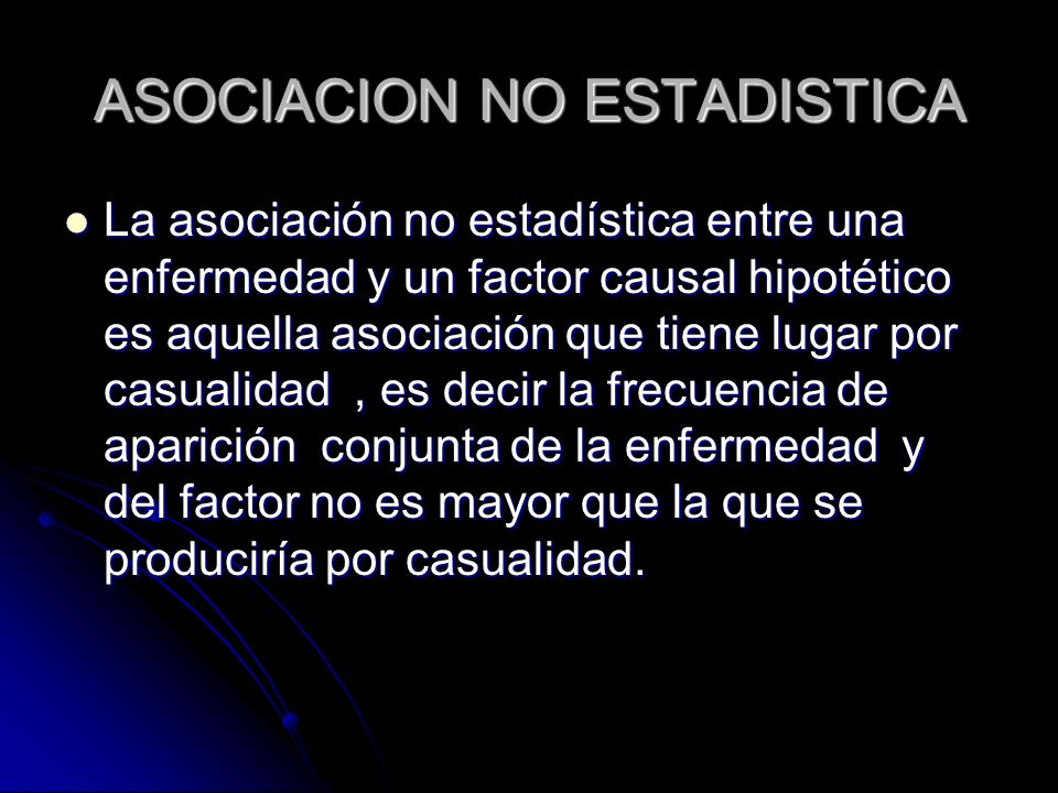ASOCIACION NO ESTADISTICA