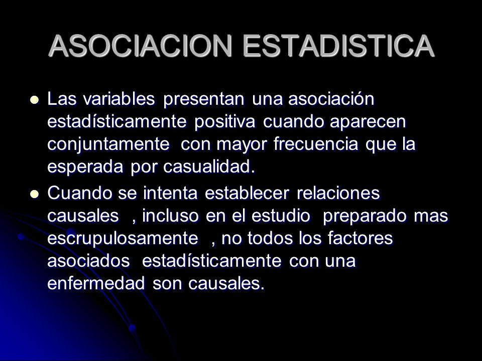 ASOCIACION ESTADISTICA
