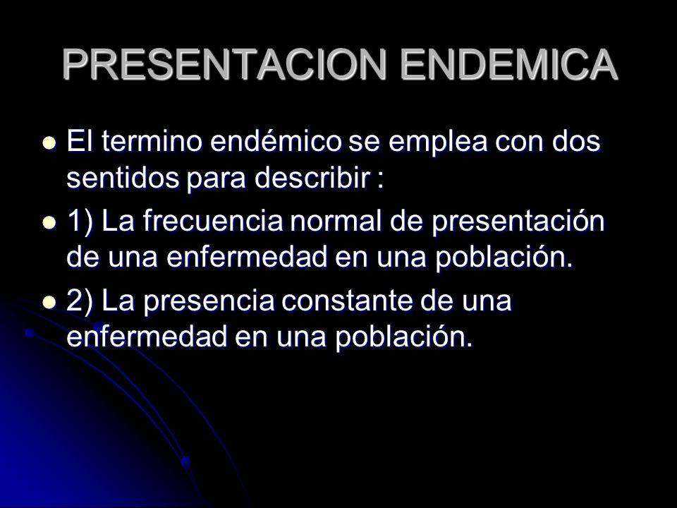 PRESENTACION ENDEMICA