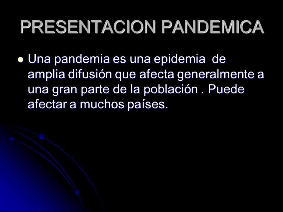 PRESENTACION PANDEMICA