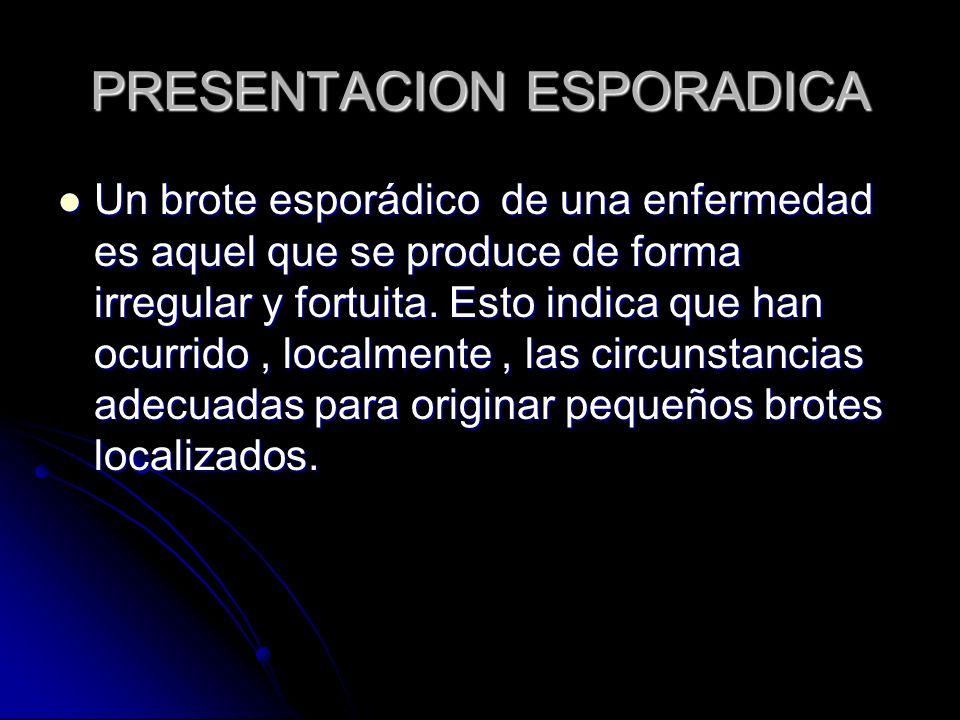 PRESENTACION ESPORADICA