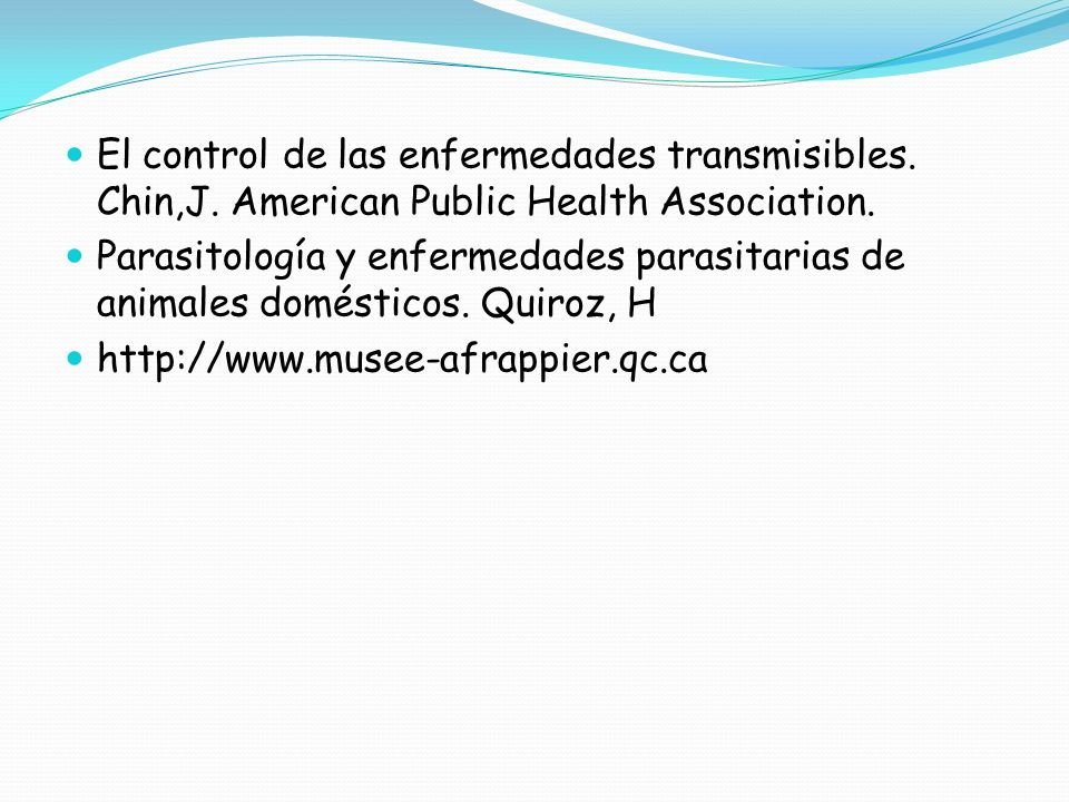 El control de las enfermedades transmisibles. Chin,J