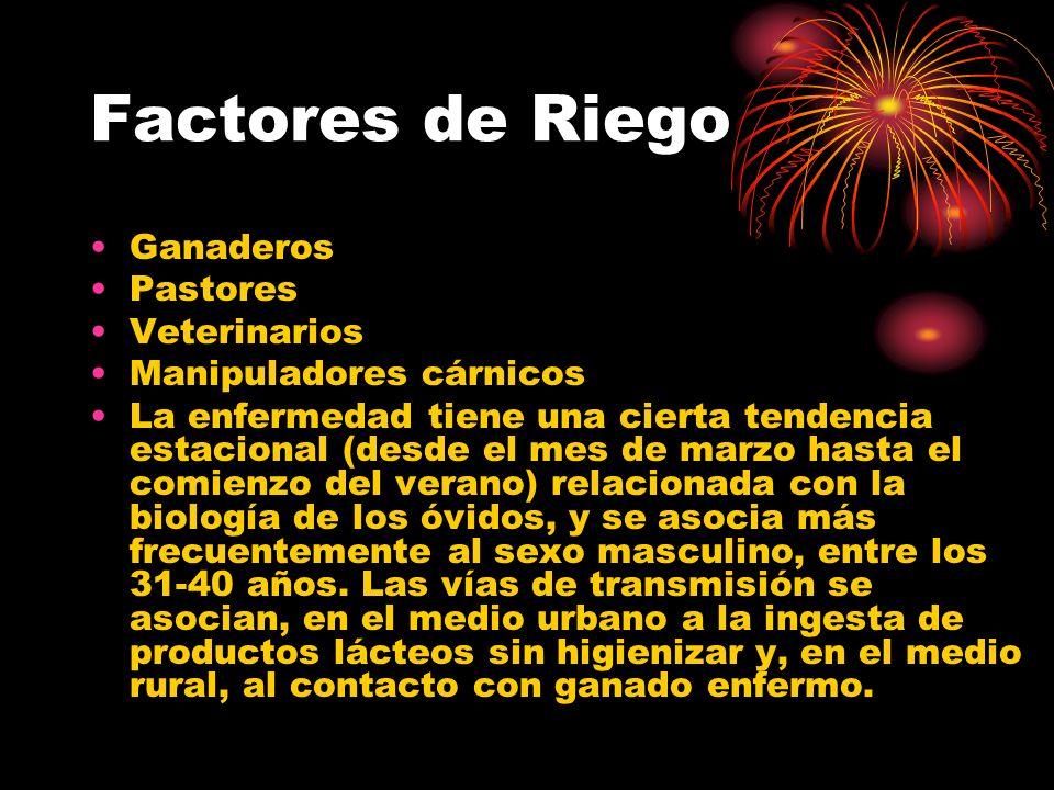 Factores de Riego Ganaderos Pastores Veterinarios