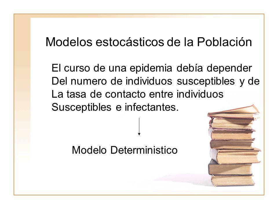 Modelos estocásticos de la Población