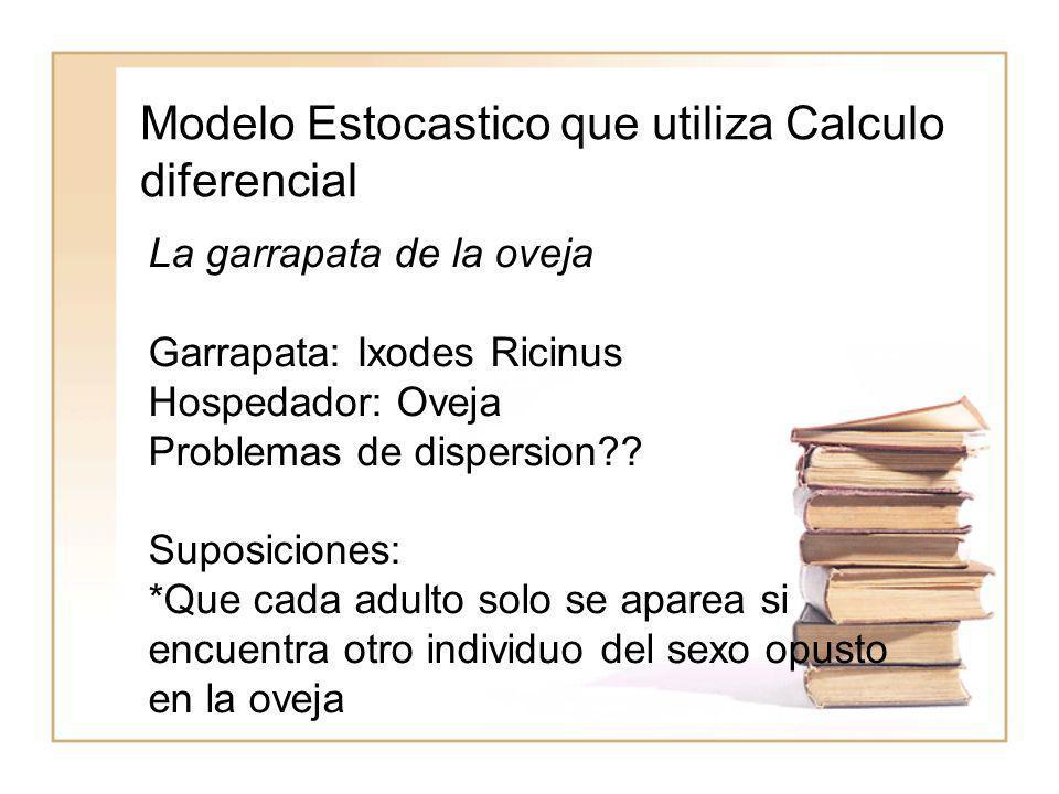 Modelo Estocastico que utiliza Calculo diferencial