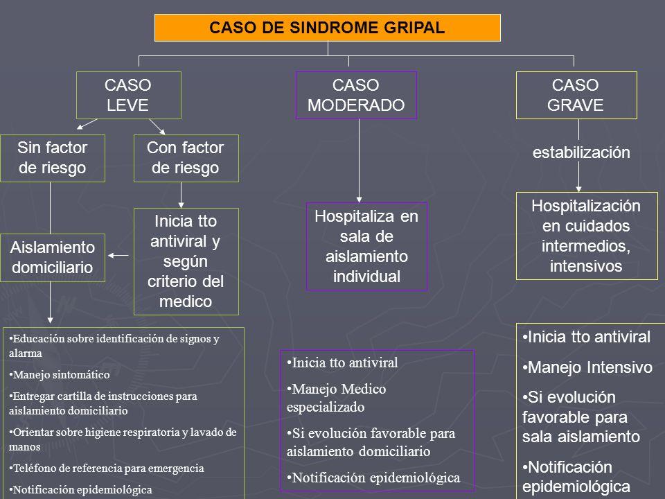 CASO DE SINDROME GRIPAL