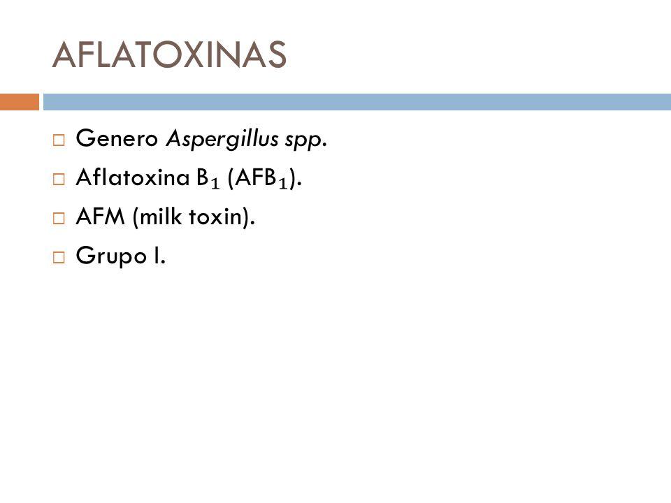 AFLATOXINAS Genero Aspergillus spp. Aflatoxina B₁ (AFB₁).