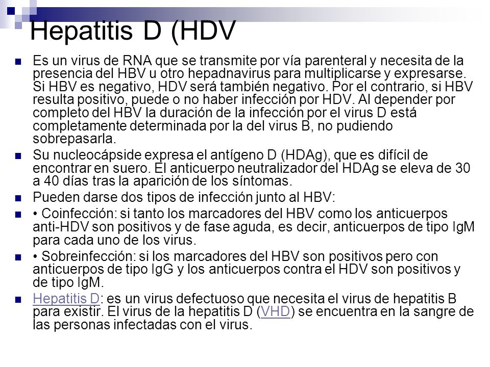 Hepatitis D (HDV