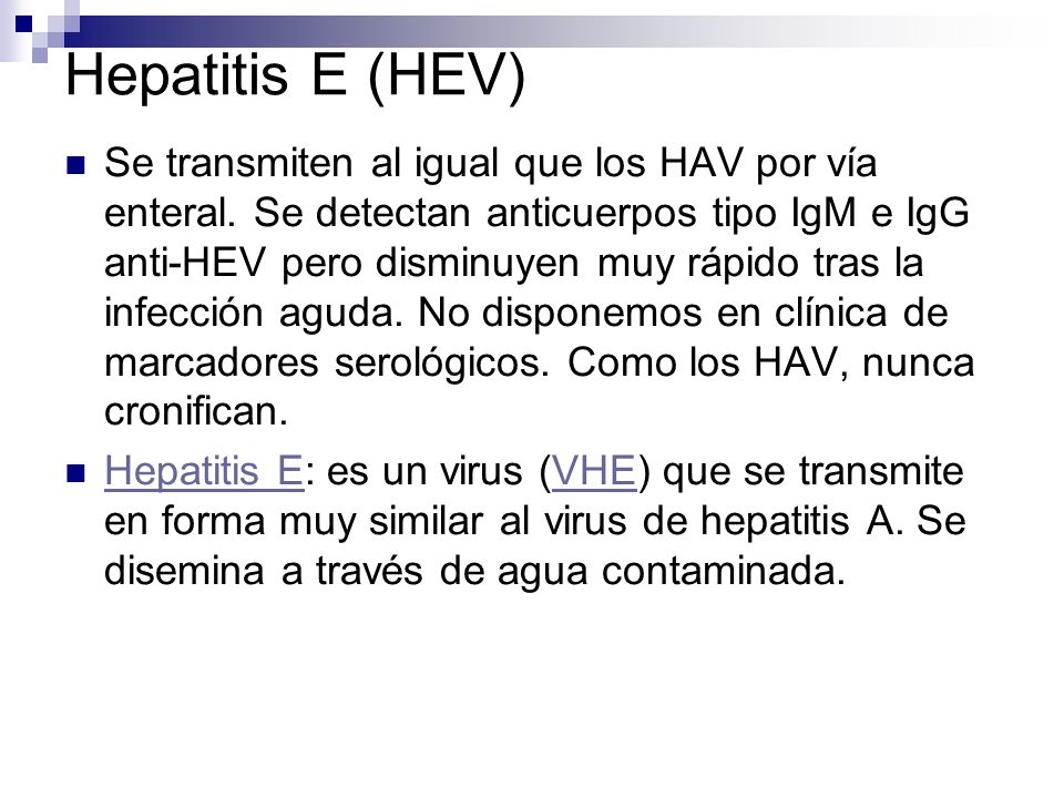 Hepatitis E (HEV)