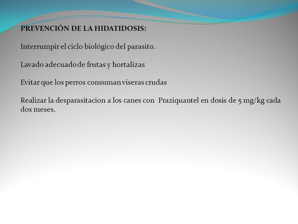 PREVENCIÓN DE LA HIDATIDOSIS: