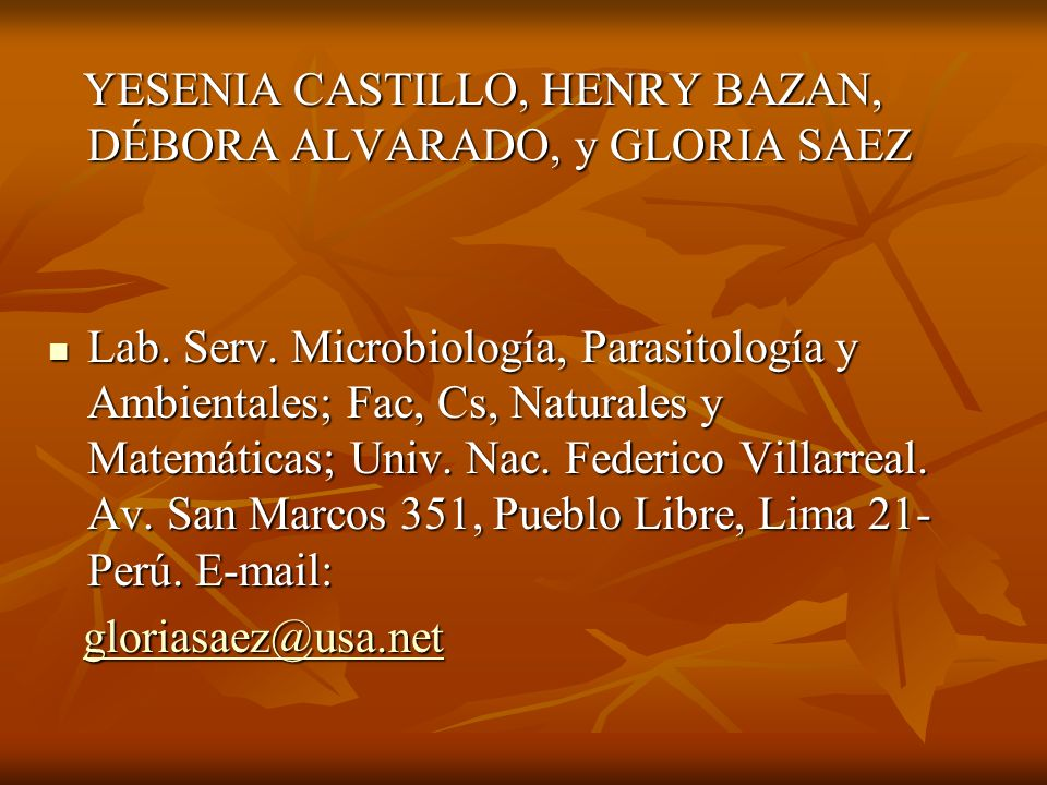 YESENIA CASTILLO, HENRY BAZAN, DÉBORA ALVARADO, y GLORIA SAEZ