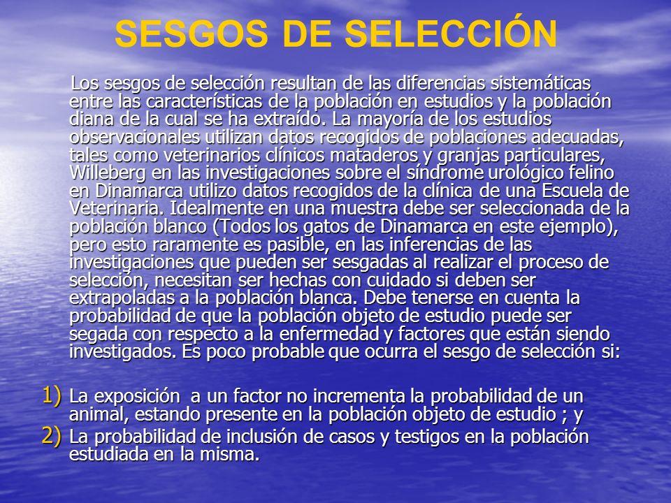 SESGOS DE SELECCIÓN