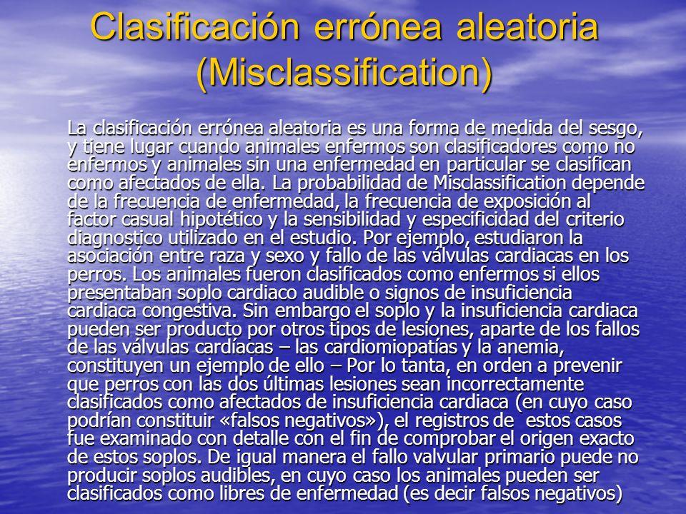 Clasificación errónea aleatoria (Misclassification)