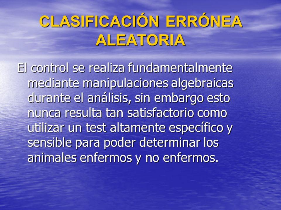 CLASIFICACIÓN ERRÓNEA ALEATORIA