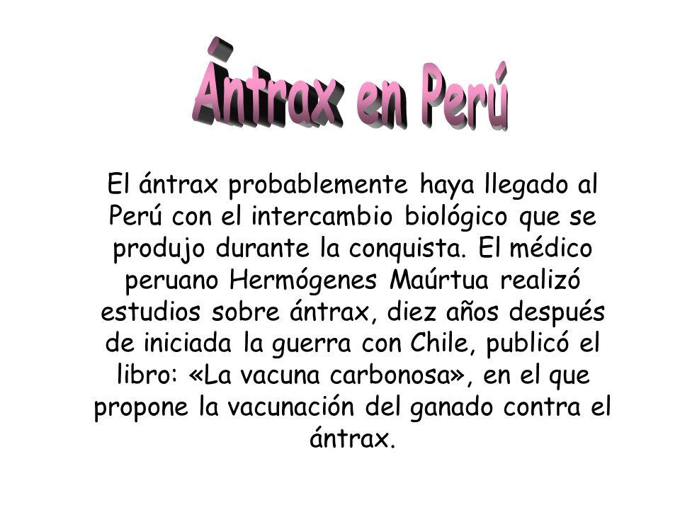 Ántrax en Perú