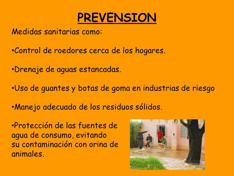 PREVENSION Medidas sanitarias como: