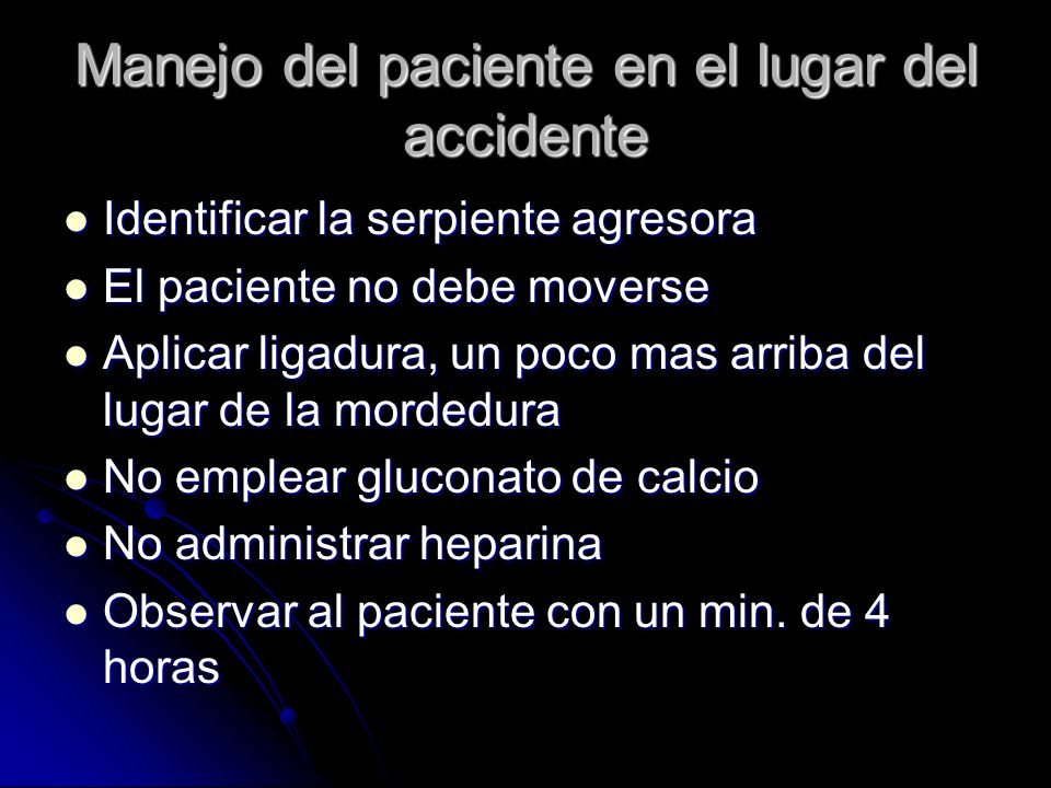 Manejo del paciente en el lugar del accidente