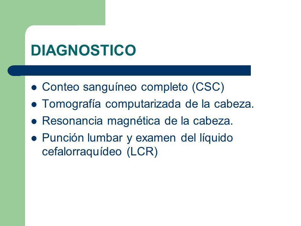 DIAGNOSTICO Conteo sanguíneo completo (CSC)