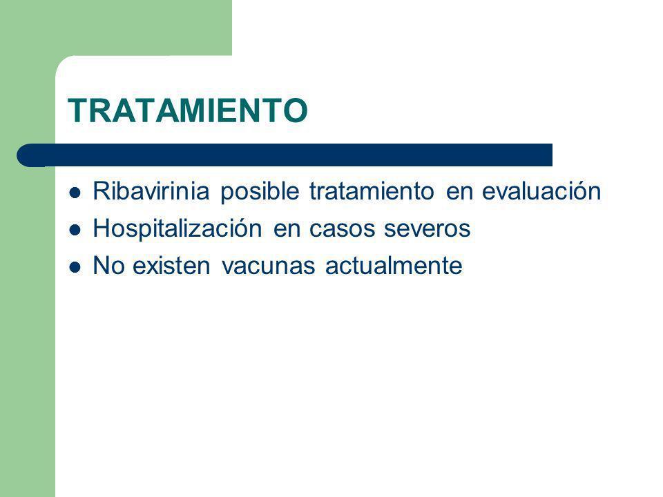 TRATAMIENTO Ribavirinia posible tratamiento en evaluación