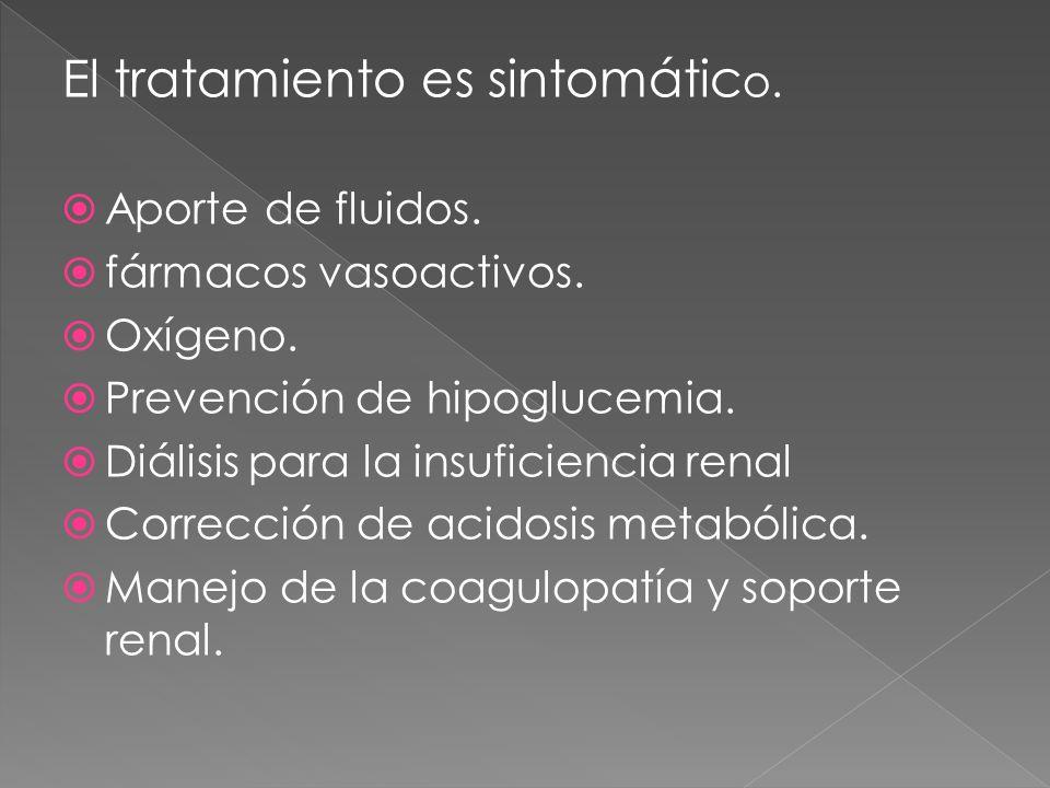 El tratamiento es sintomático.