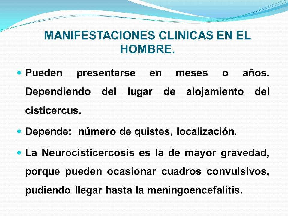 MANIFESTACIONES CLINICAS EN EL HOMBRE.