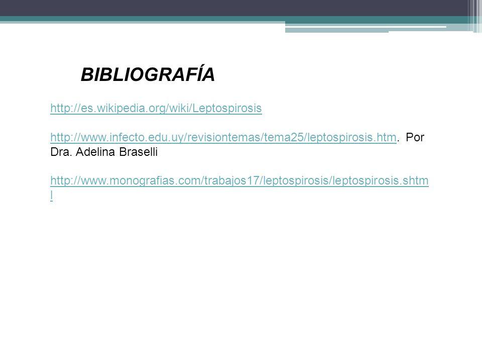 BIBLIOGRAFÍA http://es.wikipedia.org/wiki/Leptospirosis