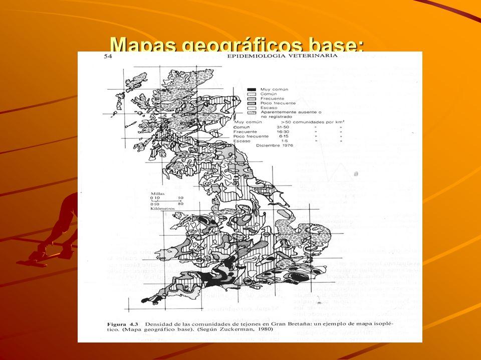 Mapas geográficos base: