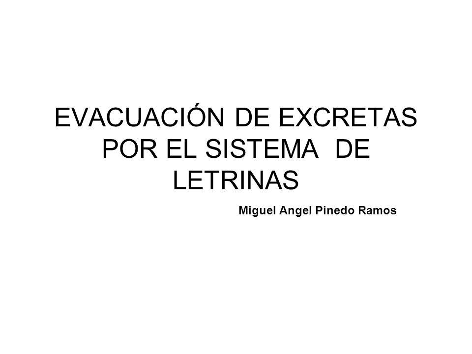 EVACUACIÓN DE EXCRETAS POR EL SISTEMA DE LETRINAS