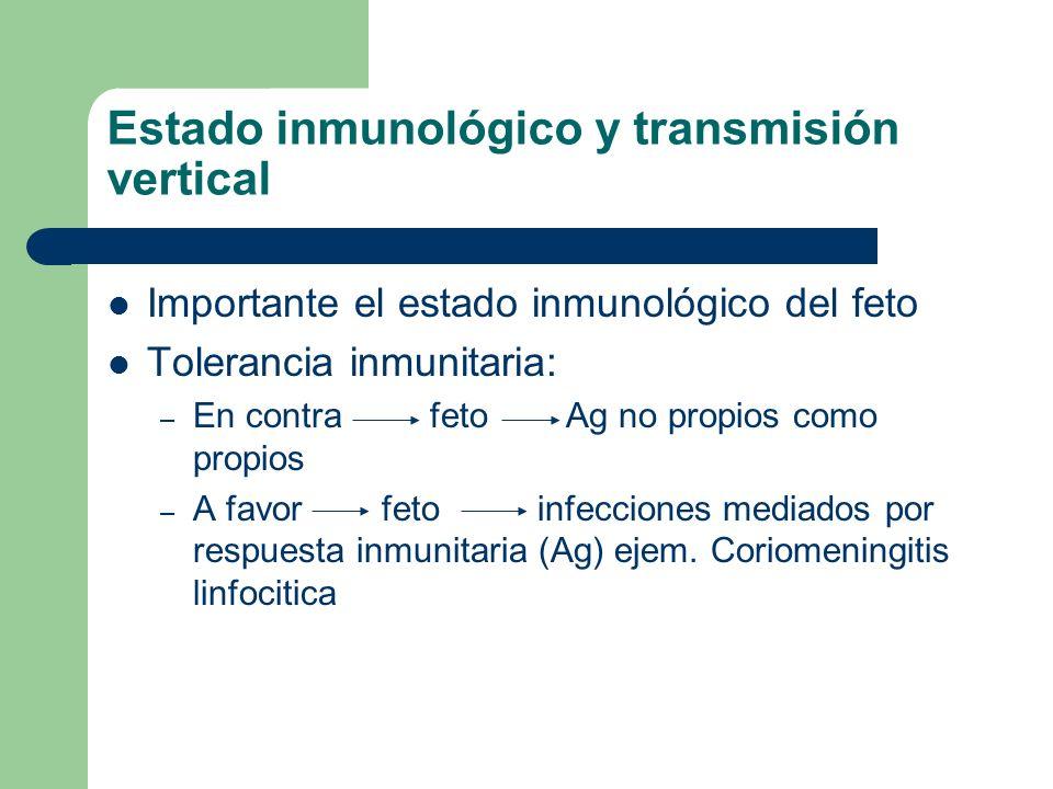 Estado inmunológico y transmisión vertical