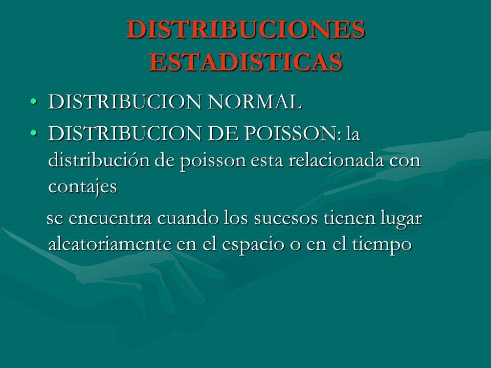 DISTRIBUCIONES ESTADISTICAS