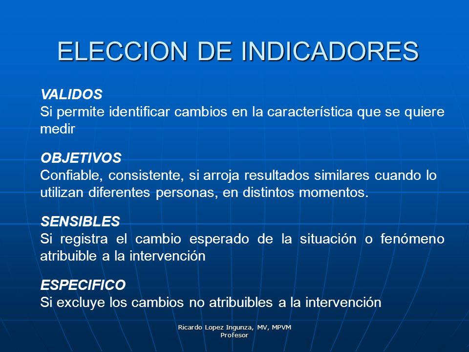 ELECCION DE INDICADORES