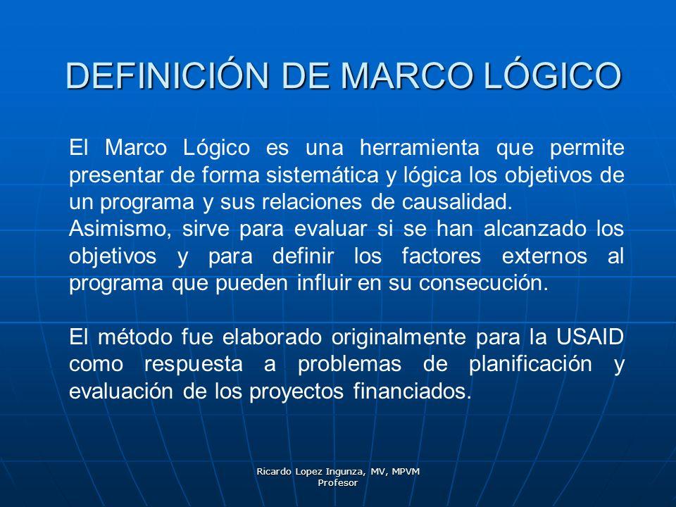 DEFINICIÓN DE MARCO LÓGICO