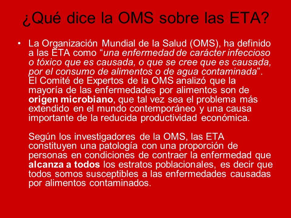 ¿Qué dice la OMS sobre las ETA