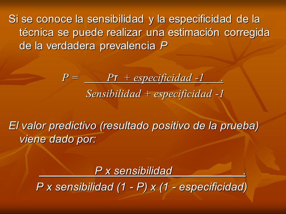 Sensibilidad + especificidad -1