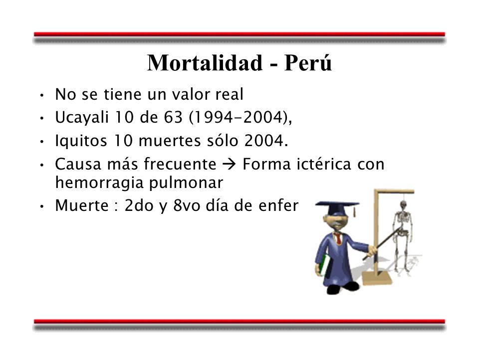 Mortalidad - Perú No se tiene un valor real