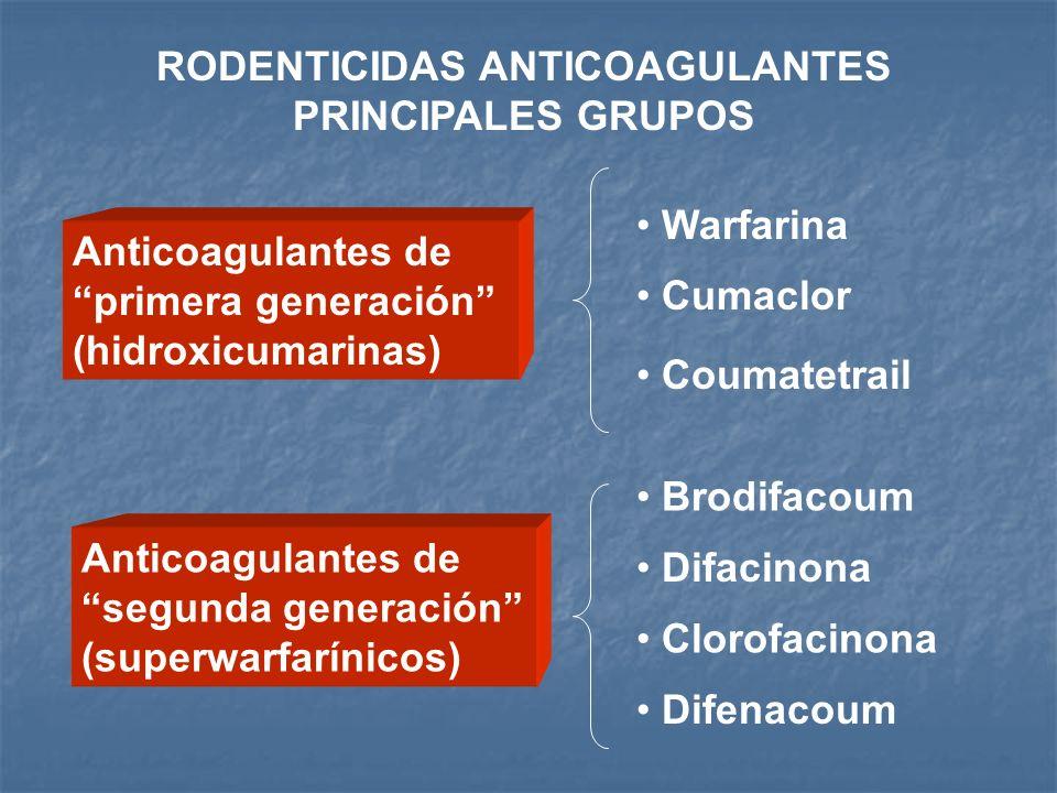 RODENTICIDAS ANTICOAGULANTES PRINCIPALES GRUPOS