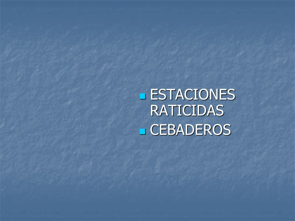 ESTACIONES RATICIDAS CEBADEROS