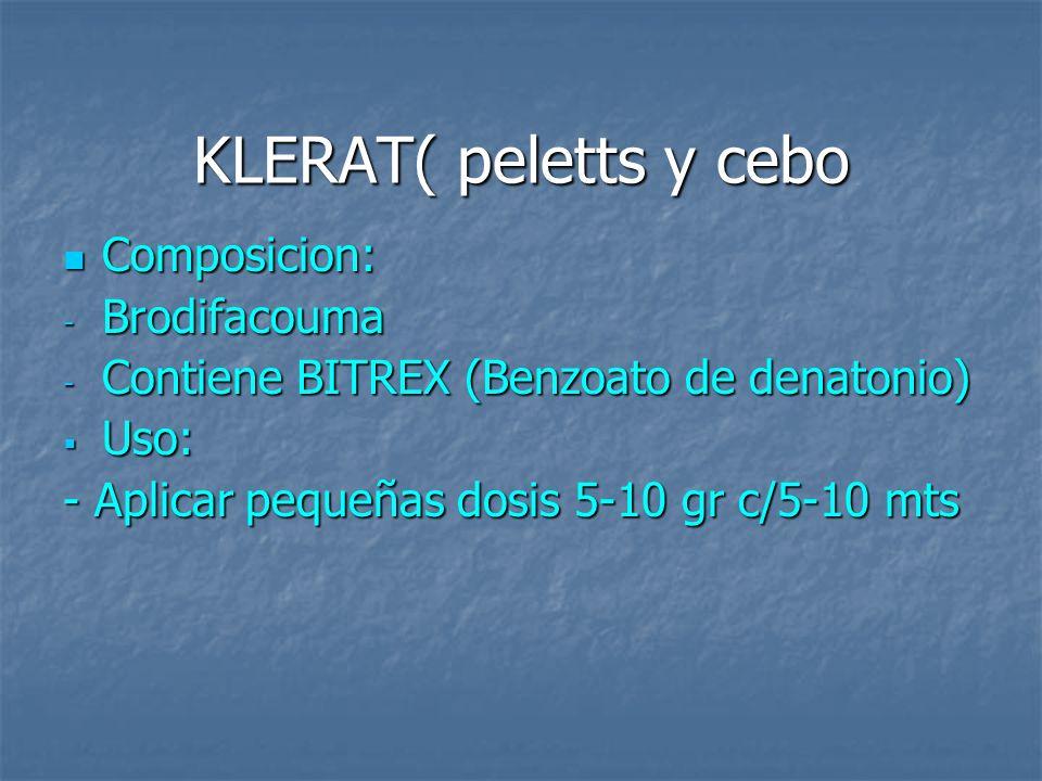 KLERAT( peletts y cebo Composicion: Brodifacouma