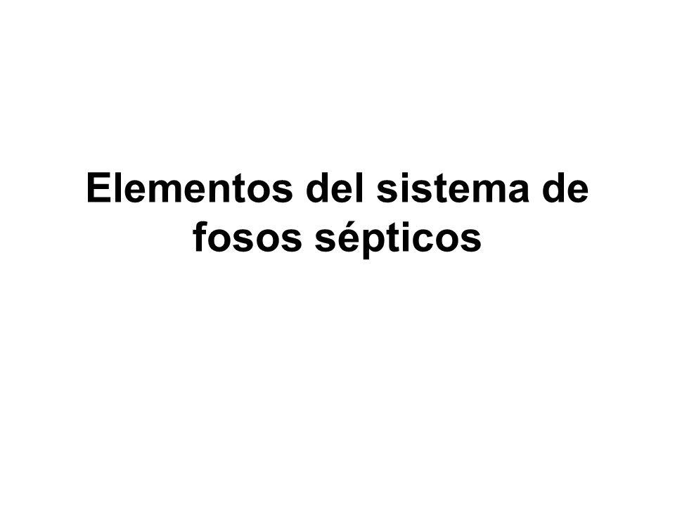 Elementos del sistema de fosos sépticos