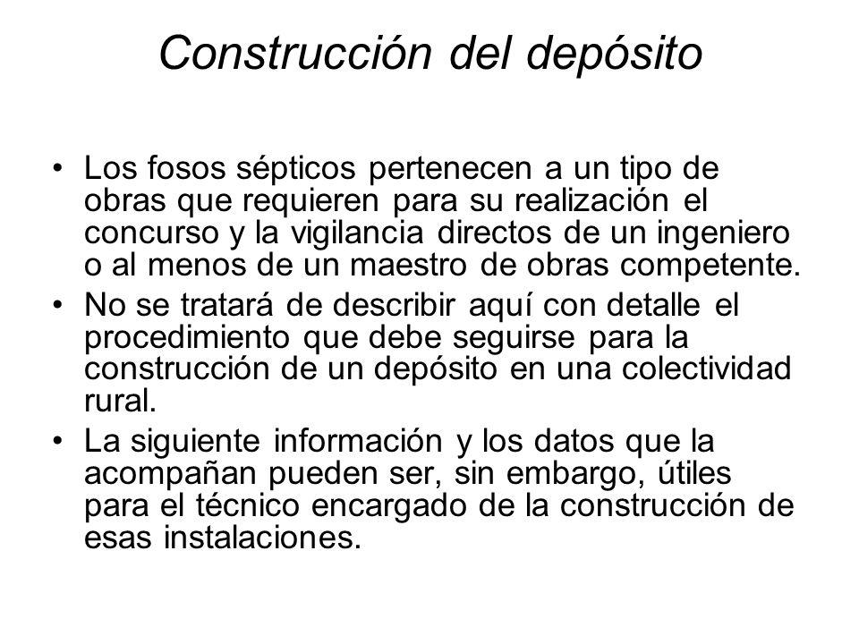 Construcción del depósito
