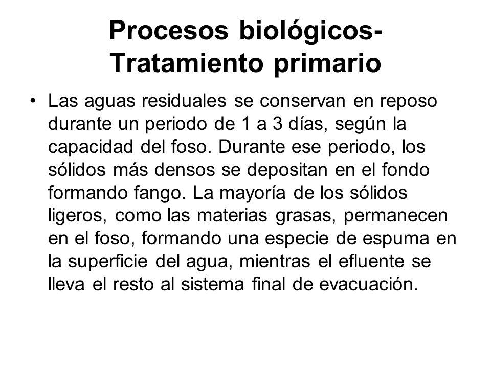 Procesos biológicos- Tratamiento primario