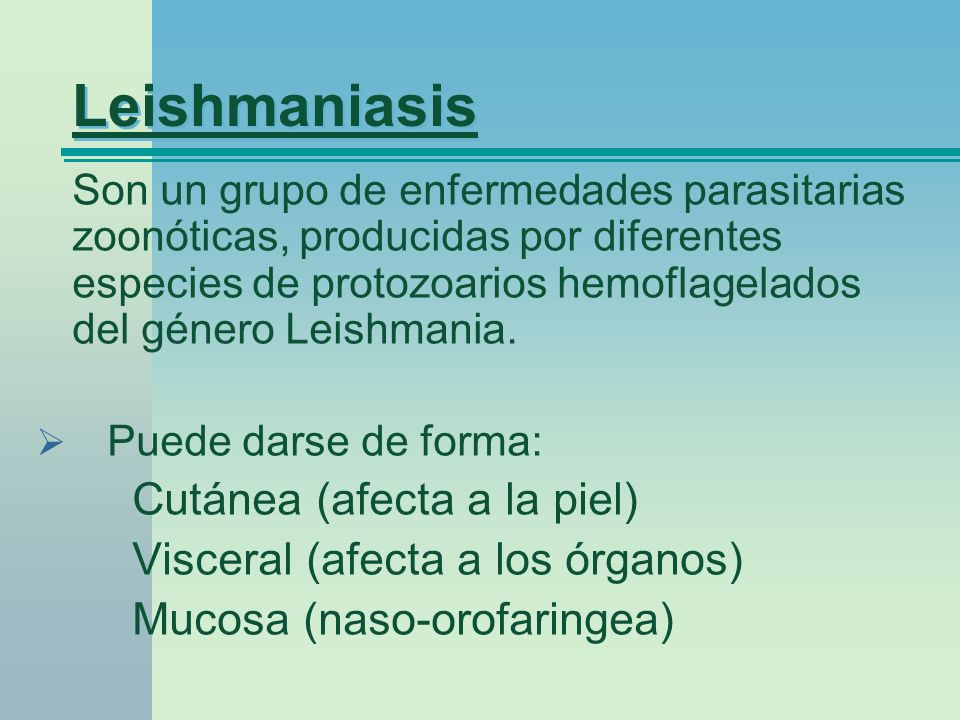 Leishmaniasis Visceral (afecta a los órganos)