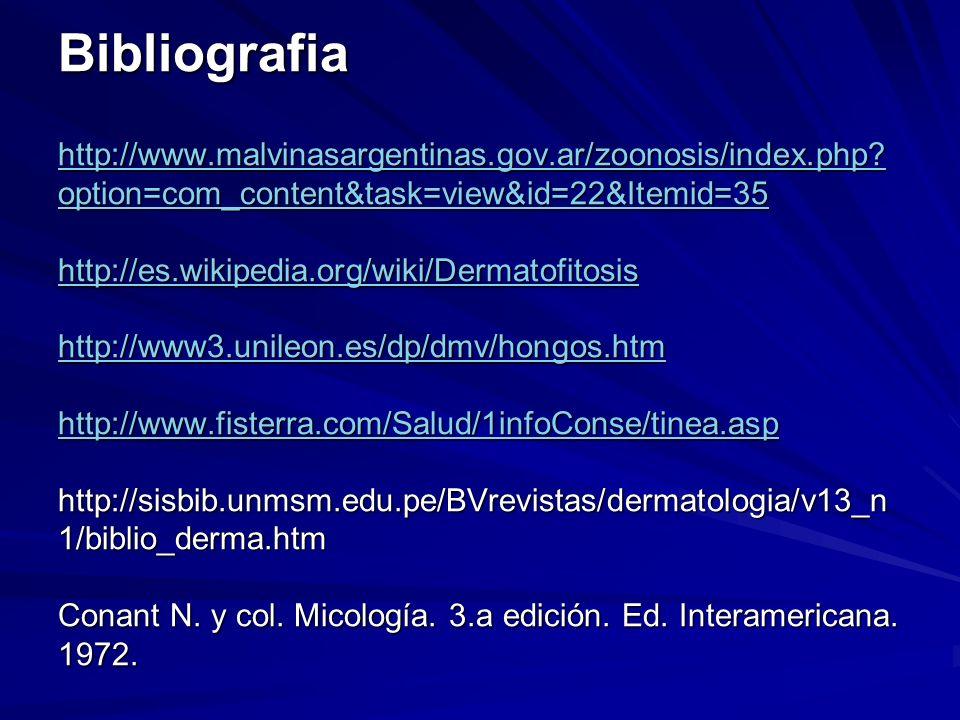 Bibliografia http://www. malvinasargentinas. gov. ar/zoonosis/index